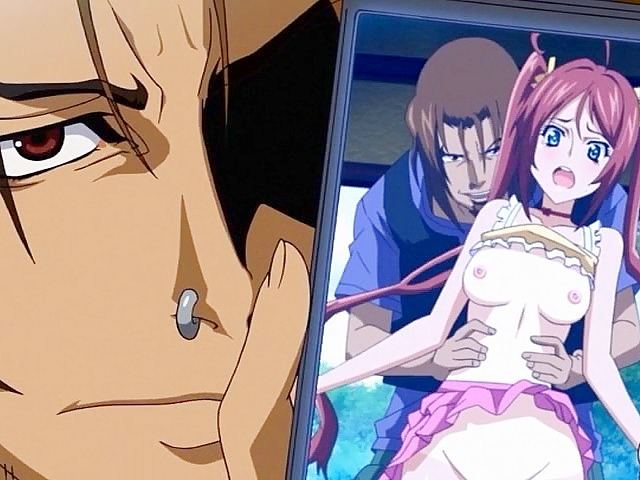 A kinky blackmailer again fucks victim. Blackmailing a good hentai girl this degenerate man again and again gets sex fun with her lovely nub
