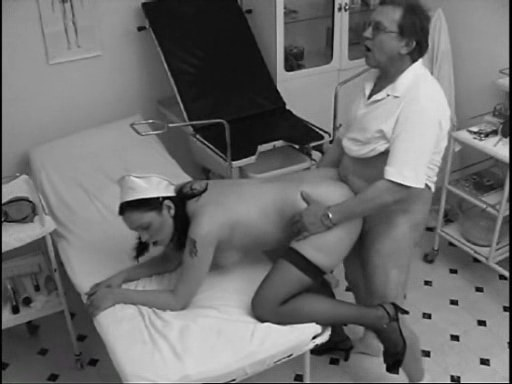 Slutty nurse sucking and fucking snitcher patient