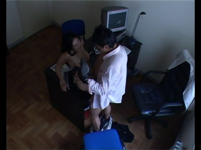 Sultry secretary giving him a head head to her boss
