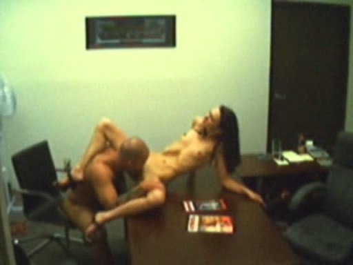 Sultry secretary drilled on her bosss table