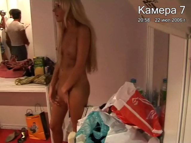 Lecherous bimbos caught on cam naked