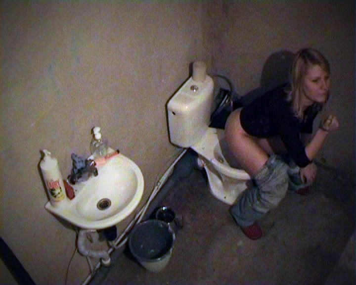 Sweet doll pissing and smoking qualification the toiletbowl