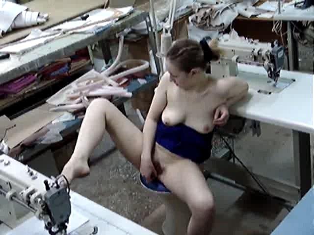 Crazy seamstress masturbating onthespot