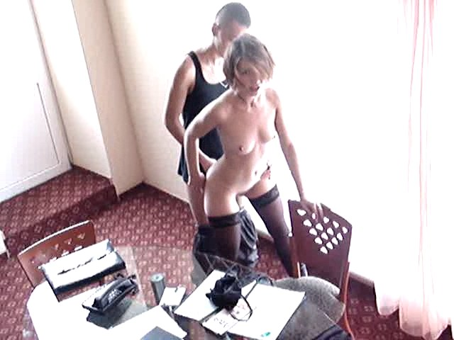 Horny fuck and masturbation action shot in the office!
